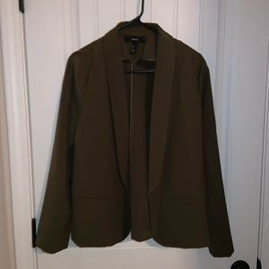 Forever 21 Hunter Green Blazer